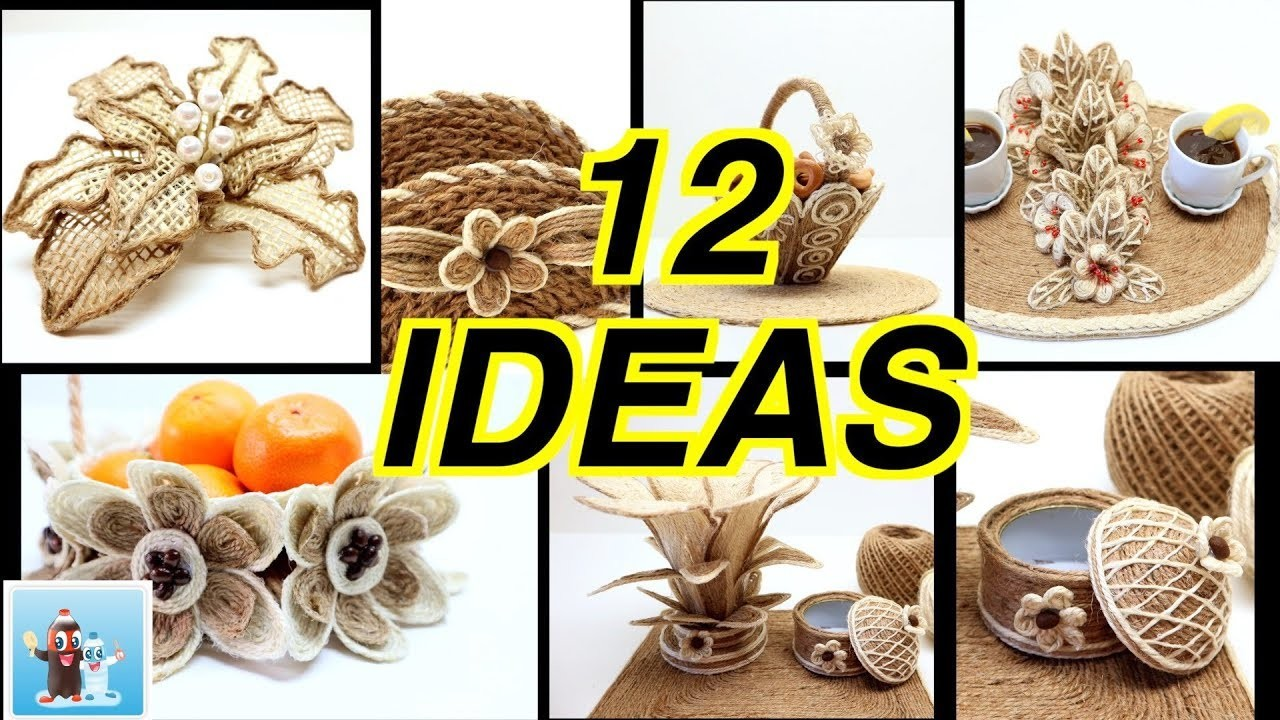 12 Wonderful Ideas How to Make Jute Flowers Art and Craft