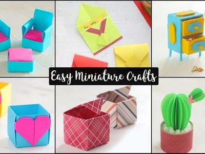 6 Easy Miniature Craft Ideas | DIY Miniatures
