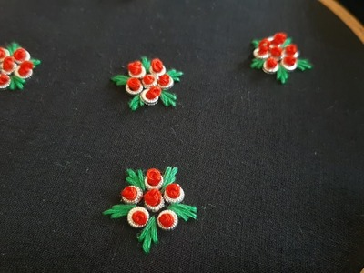 All Over Floral Design for Dress.Kurti (Hand Embroidery Work)