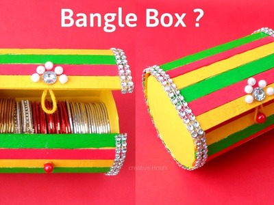 Bangle Box making at Home with waste Ice cream Sticks | Best out of waste