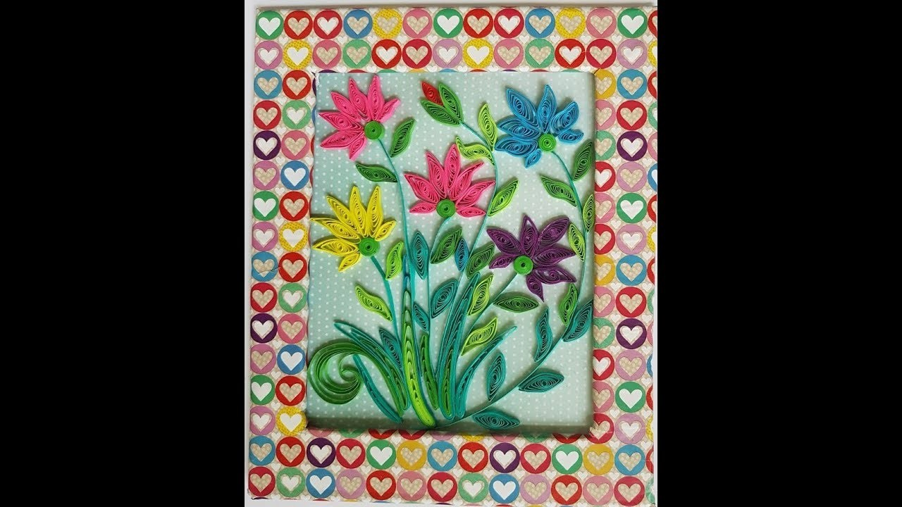 Beautiful Wall Piece with Quilled Flowers