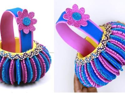Best out of WASTE PLASTIC bottle craft - Make Plastic Bottle & Foam Basket in Easy Way - BOTTLECRAFT