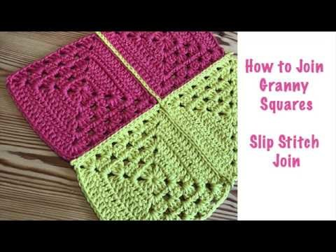 Blossom Crochet: Join Granny Squares with the 'Invisible' Slip Stitch!