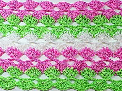 Crochet  stitch for spring and summer very easy