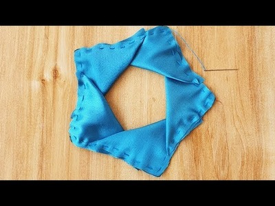 DIY Beautiful Satin fabric Flower Tutorial