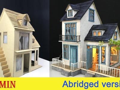 DIY Cardboard House with  Garden - Abridged version