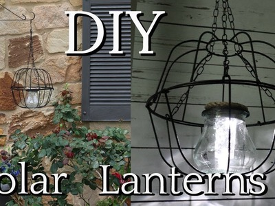 DIY DOLLAR TREE SOLAR HANGING LANTERNS | SUMMER OUTDOOR DECOR IDEAS