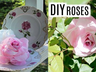DIY REALISTIC COFFEE FILTER ROSES????DOLLAR TREE QUICK & EASY TUTORIAL
