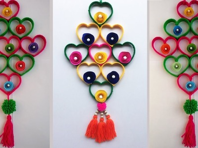 DIY Woolen crafts. Empty plastic bottle craft idea. best out of waste. Woolen design. Hanging