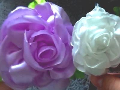 Hair Ornament - Satin Ribbon Rose HairBand