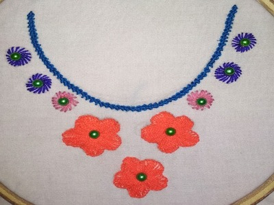 Dress Hand Embroidery Beautiful Neck Line Design For Dress Simple Neck Line Design Hand,Creative Design Workspace