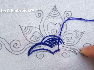 Hand Embroidery, Easy Flower Embroidery designs for dresses, Flower Embroidery Tutorial