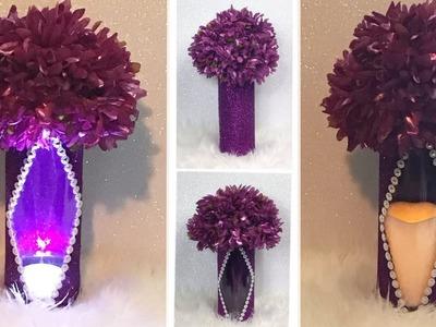 How To Create A Fabulous Lit Purple Wedding Centerpiece. Wedding Theme Decor