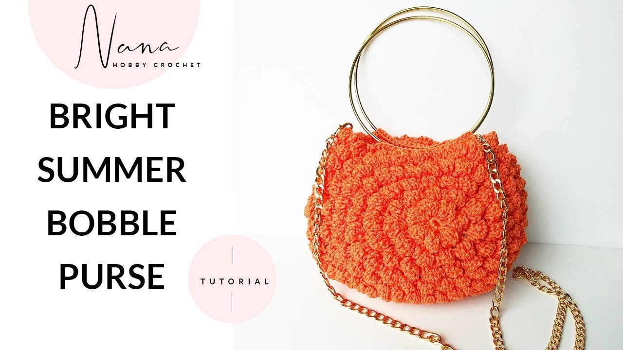 HOW TO CROCHET A BOBBLE STITCH PURSE