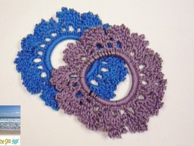 How To Crochet A Lacey Hair Scrunchie! FREE pattern in the description box below!   :o)