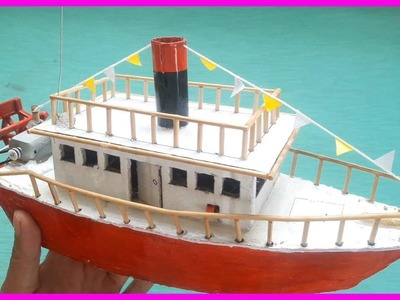 How To Make A Boat Models With Cardboard | Paddle Boat | Do It Yourself