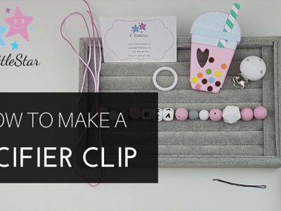 How to Make a Pacifier Clip | Hvordan lage smokkesnor