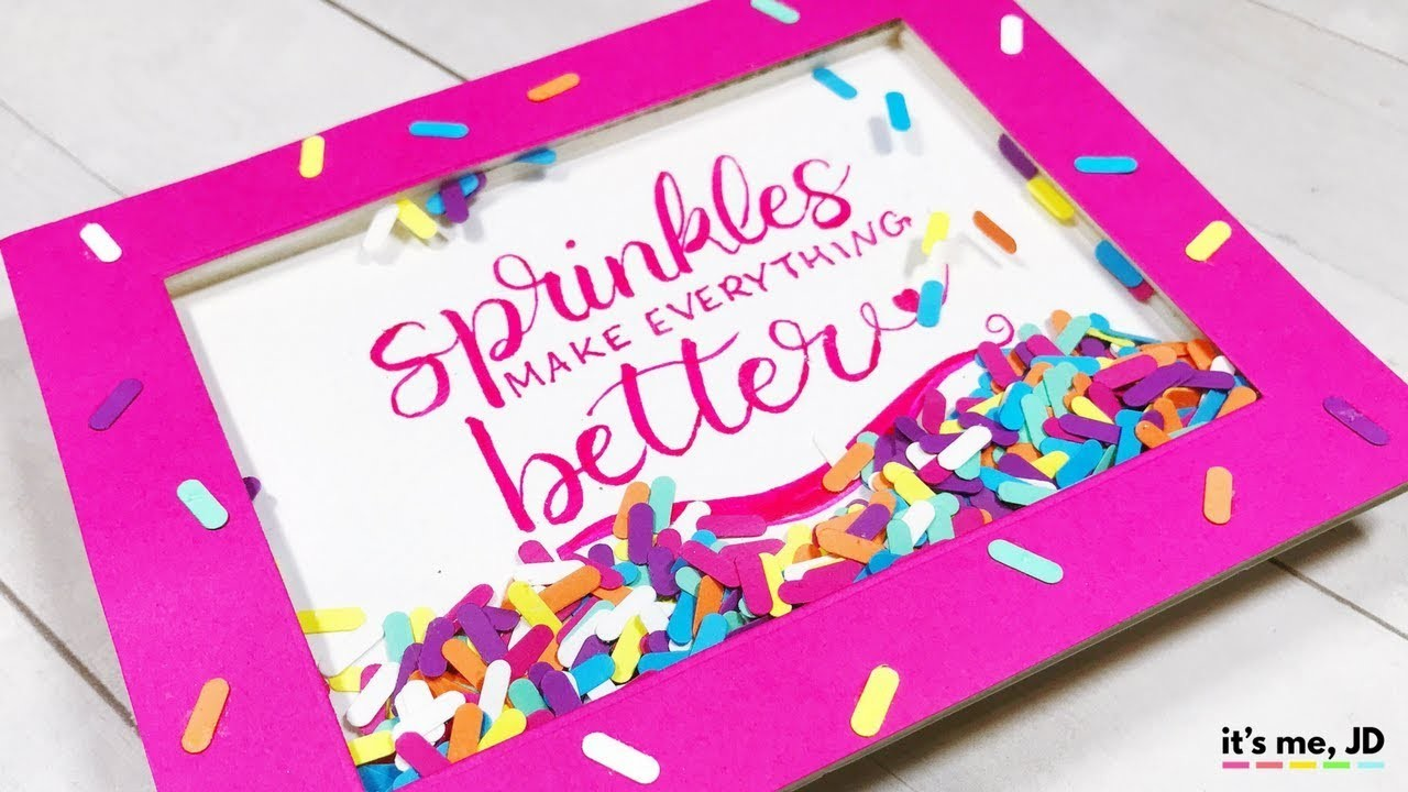How To Make A Shaker Card (with Sprinkles!)