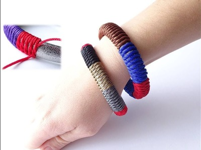 """How to Make an """"Indian Bangle Style"""" Bracelet-West Country Whipping Knot.Paracord-Como Hacer Pulsera"""