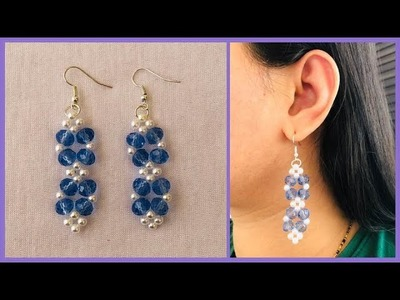How To Make Beaded Earrings At Home | Beaded Jewellery Tutorial