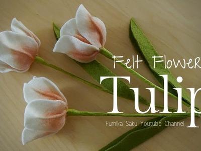How to Make Felt Flower : Tulip