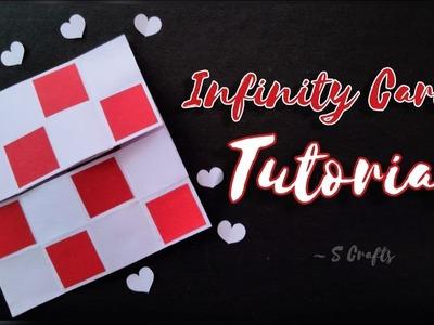 Infinity Card Tutorial ????   Handmade   S Crafts   Scrapbook cards tutorial   Endless Card Tutorial