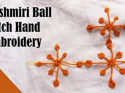 Kashmiri Ball Stitch Hand Embroidery By Razia's DailyLife