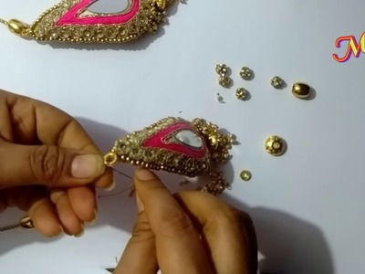 MCB's using Ready-made patches making of latest designer Lathakans.hangings at home easily