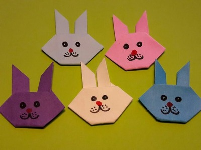 Origami Rabbit Face Easy to fold easy follow HD tutorial