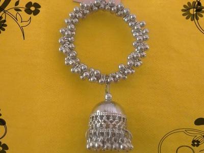 Oxidised earrings making|Antique earrings making|Oxidized jhumka making|German silver jhumka|DIY