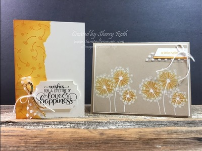 Quick & Easy Cards using Stampin' Up!'s Dandelion Wishes