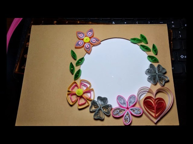 Quilling Frame Anniversary Card