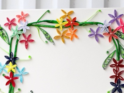 Quilling wall frame