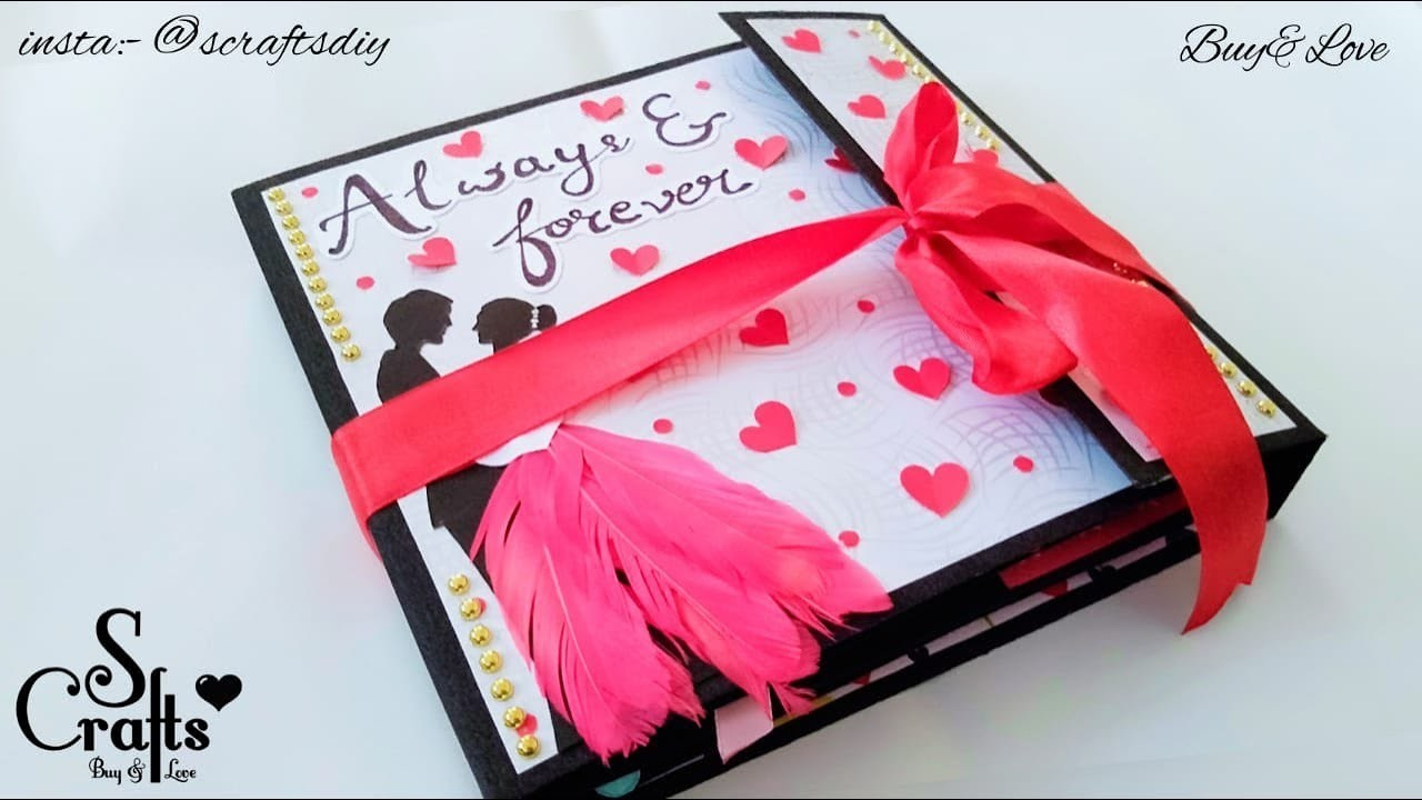 Scrapbook ???? | Handmade | S Crafts | Anniversary Scrapbook | Customisable | gift ideas