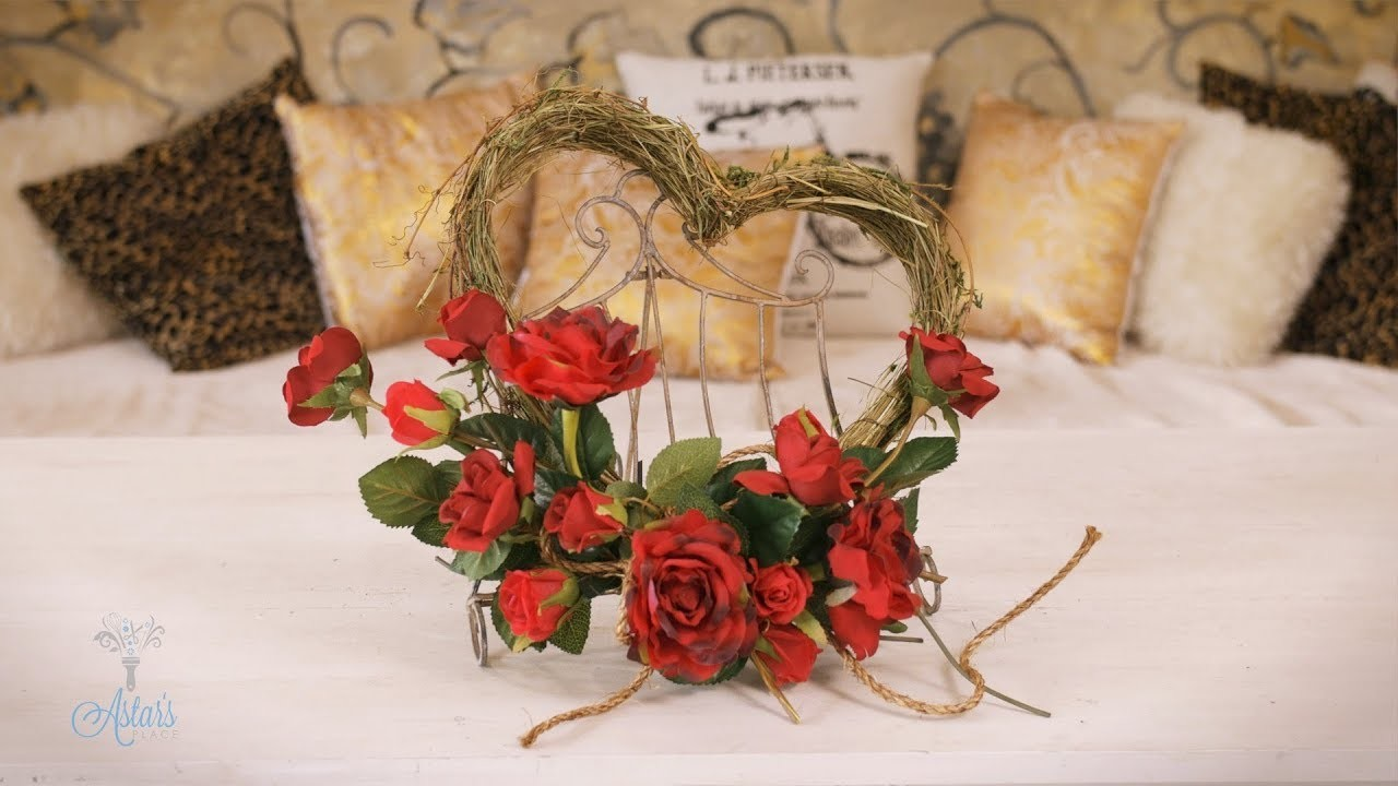 Shabby Chic Red Rose Rustic Heart for Valentine's Day