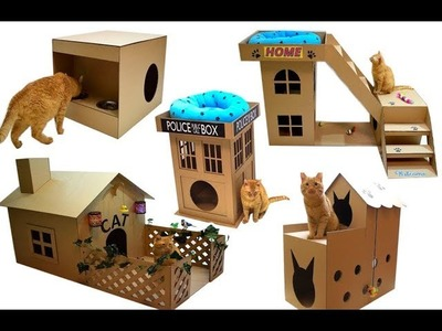 TOP 5 BEST house for a cat out of cardboard