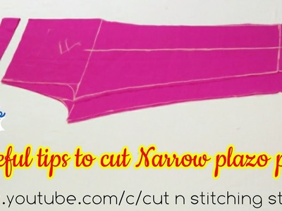Trouser cutting with all useful tips, Narrow plazo pant, straight pants cutting, How to cut plazo,