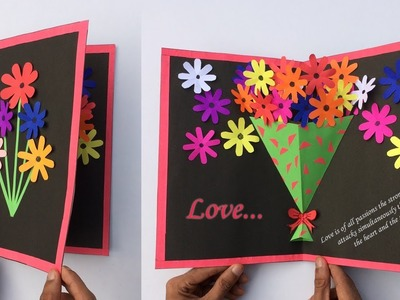 Very Easy ! pop up greeting cards | Greeting card making| New year pop up greeting cards | Craft