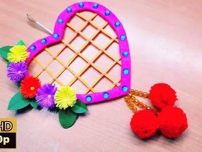 Woolen crafts | Wall hanging ideas | Amazing woolen wall hanging toran | jhumar banane ka tarika