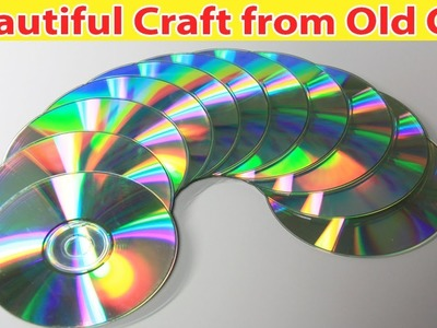 Beautiful Craft from Old CD - Easy Best Out of Waist Craft Idea - Easy Nail paint Stand