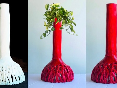 Beautiful Flower Vase Making at Home-Decorative Showpiece for Home Decor.GREEN PLANTS