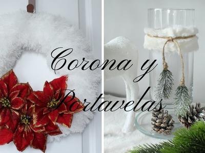 Corona Y Portavelas De Navidad 2018 ????✨Christmas Wreath and  Candle holder