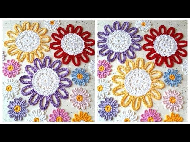 CROCHET EASY How to crochet  Crochet Flower  Doily Tutorial  Part 2, 4   5 round