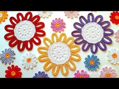 CROCHET EASY How to crochet  Crochet Flower  Doily Tutorial  Part 1, 1   3 round