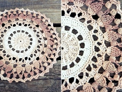 Crochet Puff Stitch Doily Tutorial