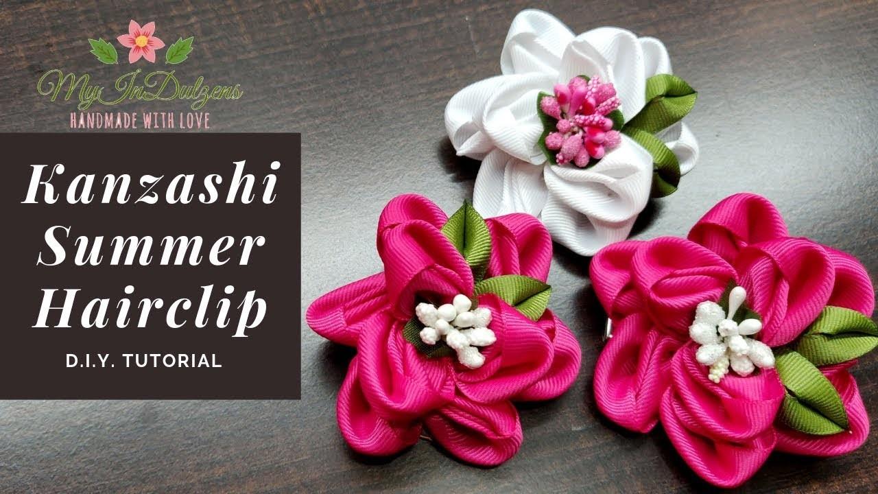 D.I.Y. Kanzashi Summer Hairclip   MyInDulzens