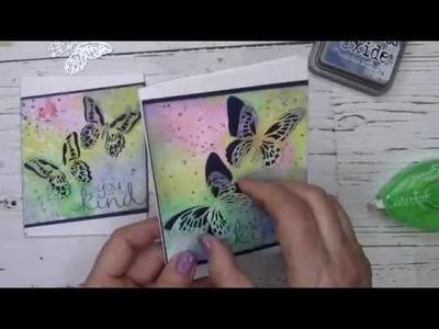 Distress Oxide Ink for a Butterfly Diecut Cardmaking Class