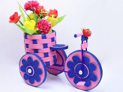 DIY Cycle Decorative Showpiece Idea | Tutorial Bike with Beautiful Decorative| Handmade Cycle Craft