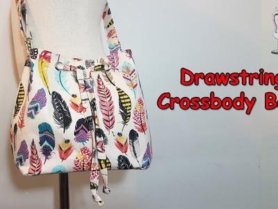 #DIY Drawstring Crossbody Bag | Bucket Bag | Shoulder Bag | Drawstring Bag | Tutorial
