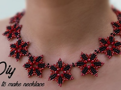 (DIY) HOW TO MAKE NECKLACE  | NECKLACE TUTORIAL